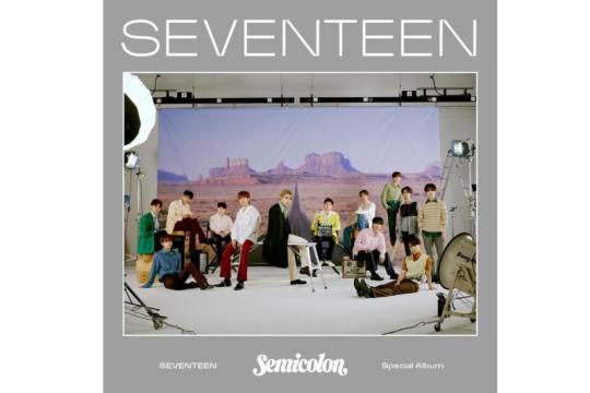 """""""Semicolon"""" SEVENTEEN  sudah dipesan 1,1 juta keping"""