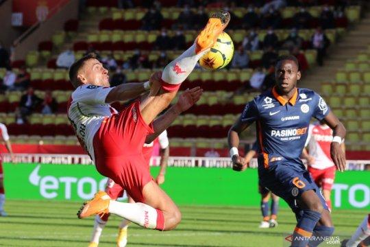 Monaco susah payah amankan satu poin hadapi10 pemain Montpellier