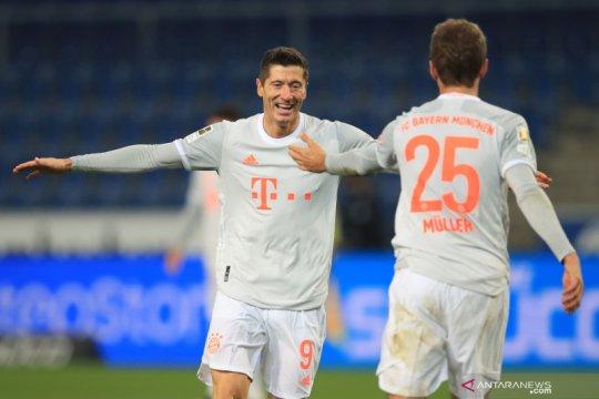 Mueller, Lewandowski ukir dua gol saat Bayern pukul Arminia 4-1