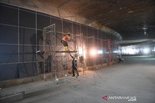 Penampakan Underpass Senen Extension yang segera diuji coba