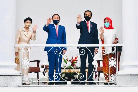 Presiden Jokowi sampaikan empat kesepakatan usai bertemu PM Suga