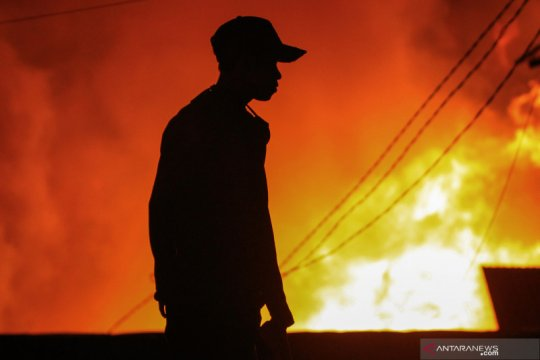 Puluhan rumah warga terbakar di Jayapura