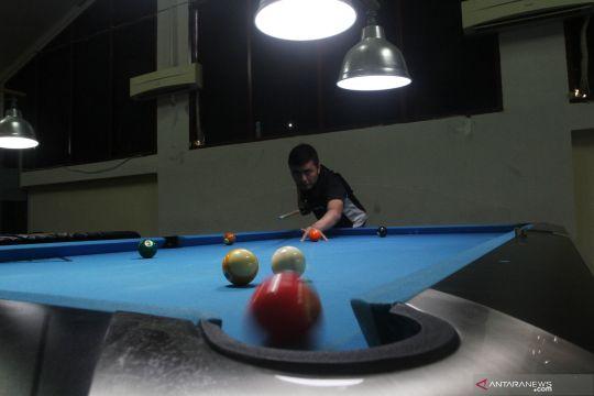 Latihan atlet billiard Sumbar
