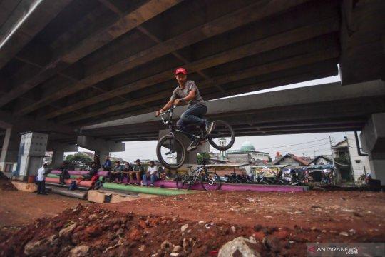 """Jaktim bangun lintasan sepeda """"pump track"""" pertama di Jabodetabek"""