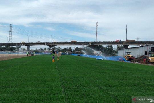 Pembangunan JIS masuk tahap pemasangan rumput hybrid