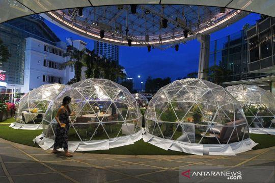 "Instalasi tempat makan ""dining dome"" untuk cegah penyebaran COVID-19"