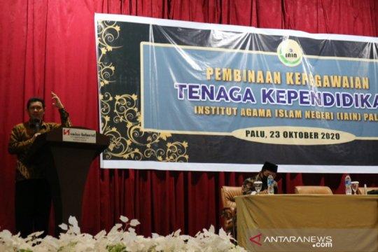 Rektor tegaskan ASN IAIN Palu tidak boleh terlibat politik praktis