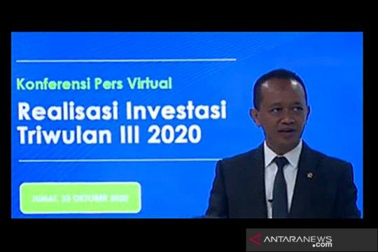 BKPM: Realisasi investasi triwulan III 2020 capai Rp209 triliun