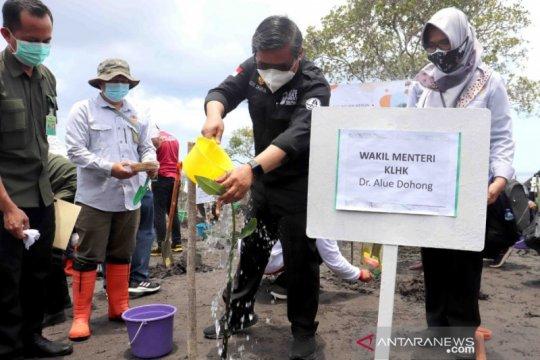 Wamen LHK ikuti Program Padat Karya Penanaman Mangrove di Buleleng
