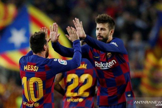 Gerard Pique sarankan nama Lionel Messi dipakai untuk stadion baru