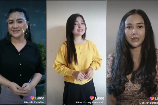 Aura kasih dan Vicky Shu bagikan tips menyanyi lewat platform video