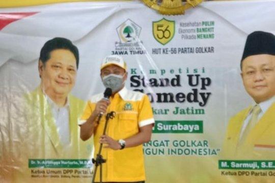 Cara Golkar kritik kebijakan pemerintah lewat lomba komedi di Surabaya