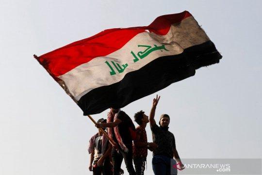 Aksi warga Irak memperingati satu tahun peristiwa demo anti pemerintah