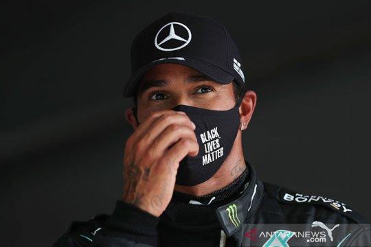 Hamilton kenakan kaus #EndSARS di wawancara pralomba GP Portugal
