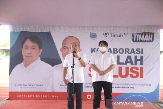 PT Timah serahkan 780 tenda bantu UMKM Pangkalpinang