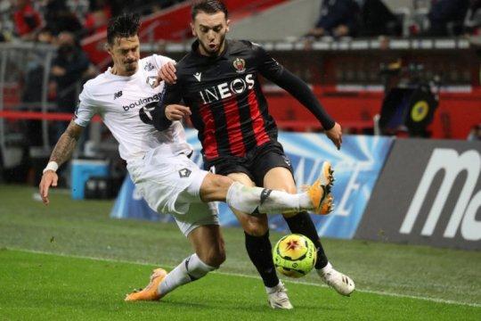 Ditahan imbang oleh Nice, Lille gagal geser PSG dari puncak klasemen