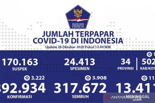 Pasien sembuh COVID-19 Senin bertambah 3.908 jadi 317.672 orang