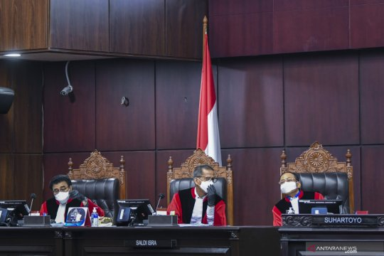 Hakim nilai permohonan pengujian revisi UU MK penuh prasangka