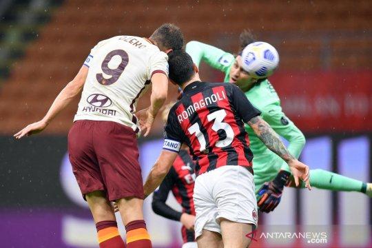 AC Milan vs AS Roma : Rossoneri ditahan imbang 3-3