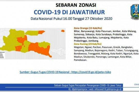 Satgas COVID-19 Jatim catat daerah zona kuning bertambah