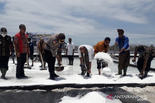 Akibat tak ada pembeli, ribuan ton garam di NTT menumpuk