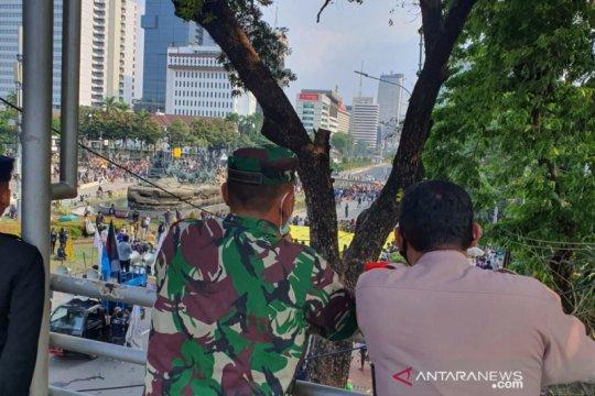 Kapolres dan Dandim Jakpus nilai demo di Patung Kuda kondusif
