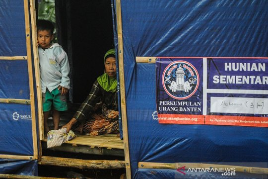 Warga korban bencana alam di Lebak berharap dibangun hunian tetap