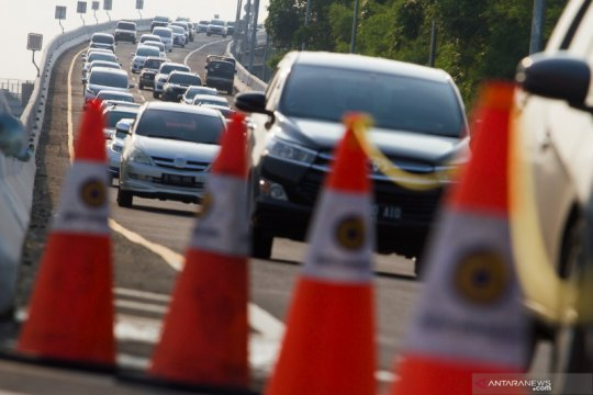 Volume lalu lintas di Tol Jakarta - Cikampek meningkat