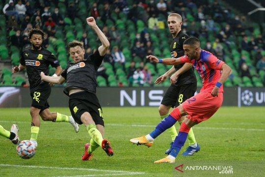 Ziyech cetak gol perdana bawa Chelsea hajar Krasnodar 4-0