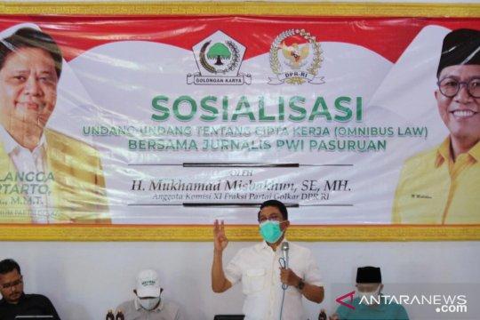 Kunjungi Dapil, Misbakhun sosialisasikan UU Cipta Kerja