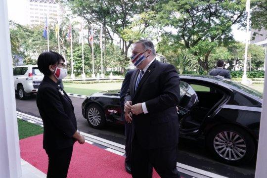 Menlu RI-AS tegaskan hormati hukum internasional di LCS
