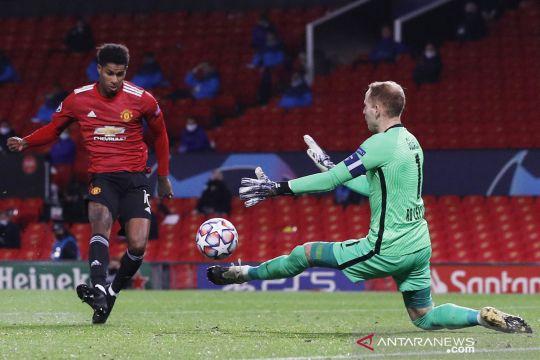 Liga Champions:  Rashford hattrick saat Manchester United pesta gol 5-0