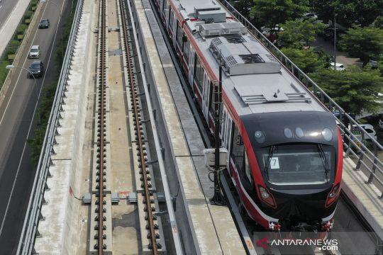 Uji coba LRT Jabodebek Cawang-Cibubur