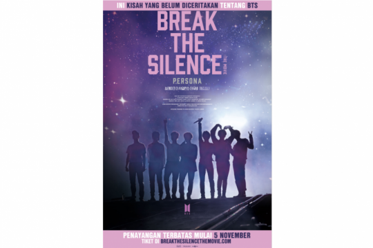 "BTS ""Break the Silence"" dipastikan tayang di Indonesia 5 November"
