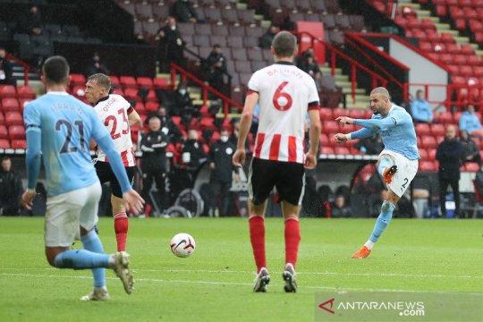 Manchester City atasi Sheffield United walau tanpa penyerang murni