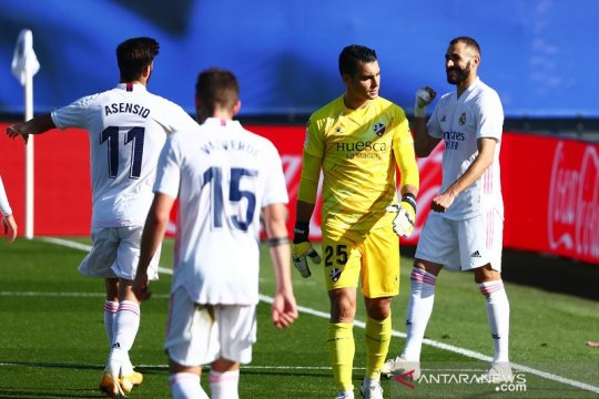 Real Madrid hajar Huesca 4-1 untuk naik ke puncak klasemen