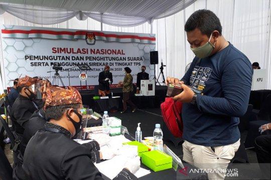 KPU Kabupaten Kediri selenggarakan simulasi pemilihan saat pandemi
