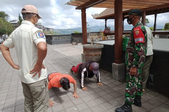 Saat libur panjang, 34 warga terjaring ops yustisi di DTW Kintamani