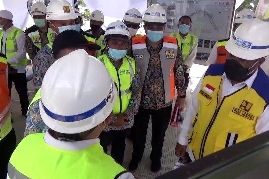Wamen PUPR tinjau pembangunan Jembatan Sei Alalak Banjarmasin