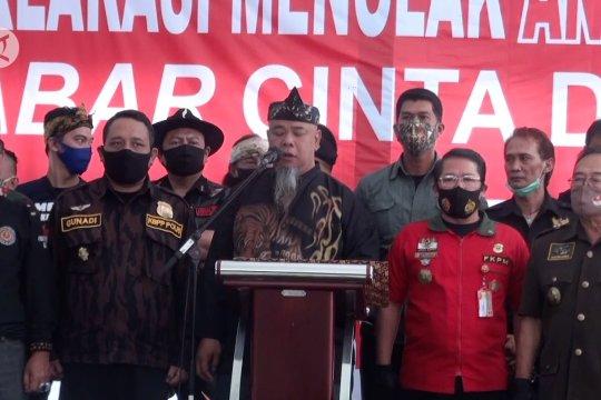 Ormas di Jabar deklarasi tolak aksi anarkime