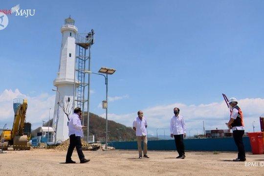 Presiden Jokowi tinjau penataan dan pembangunan terminal Labuan Bajo