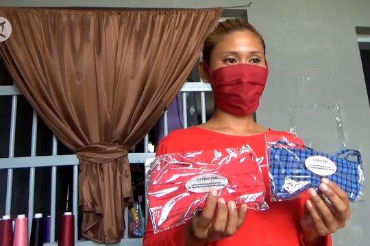 Produksi masker, keterampilan warga binaan lapas di tengah pandemi