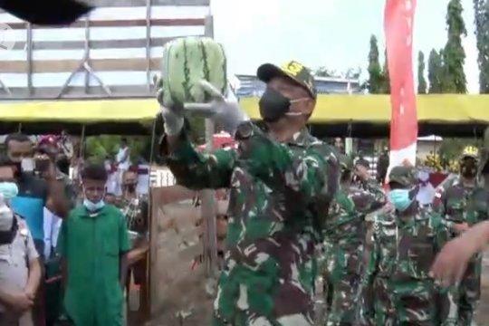 TNI di perbatasan RI-PNG panen raya buah-buahan