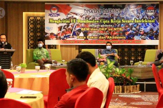 KSPN NTB sosialisasikan Omnibus Law UU Cipta Kerja