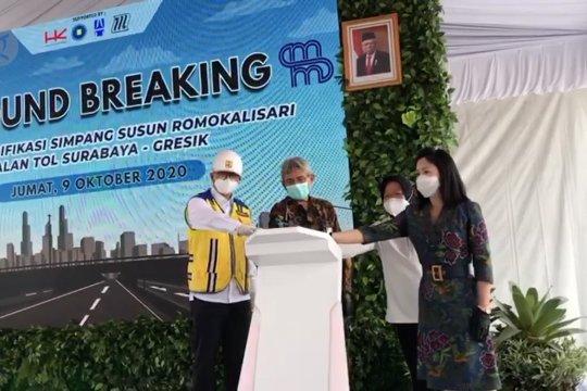 Peletakan batu pertama proyek tol akses Stadion Gelora Bung Tomo