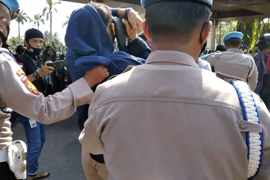 Polrestabes Palembang amankan ratusan terduga provokator dalam aksi massa