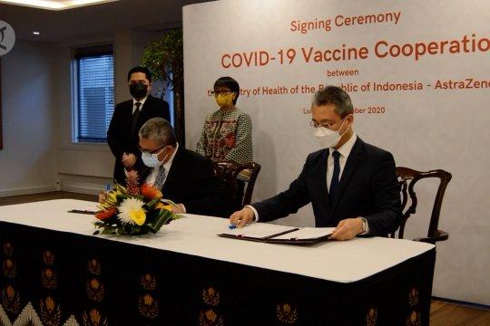 RI amankan 100 juta dosis vaksin Inggris AstraZeneca