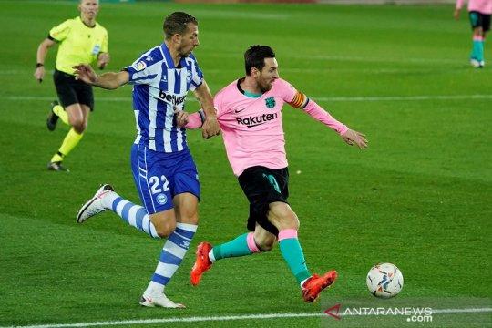 Barcelona ditahan imbang 10 pemain Alaves