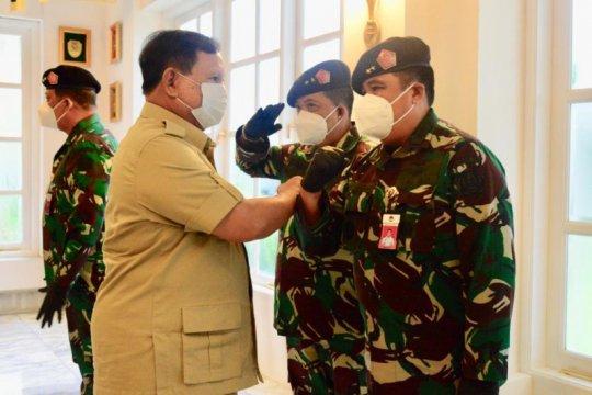 Prabowo terima laporan kenaikan pangkat 10 perwira tinggi TNI