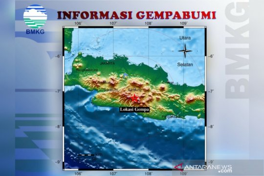 BMKG nyatakan belum ada potensi gempa susulan di Kabupaten Bandung